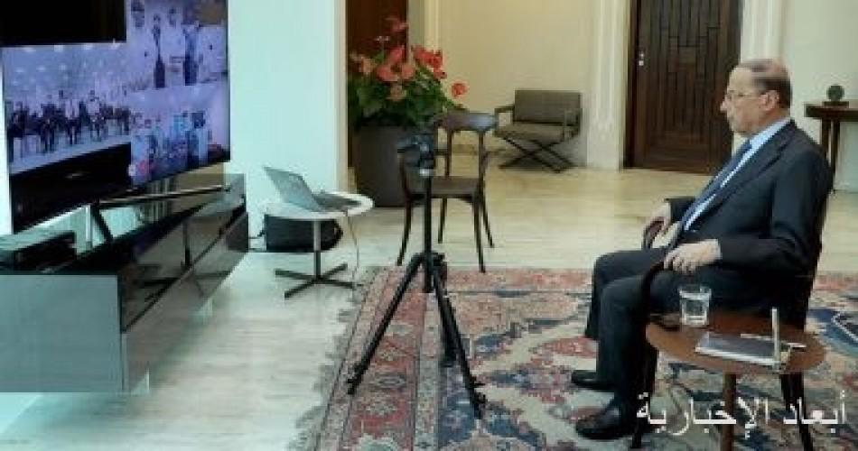 الرئيس اللبنانى يوجه بإبلاغ الأمم المتحدة باستمرار انتهاكات إسرائيل