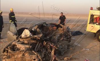 حادث شنيع يخلف ثلاثة وفيات واصابتين على طريق الخفجي ابو حدرية