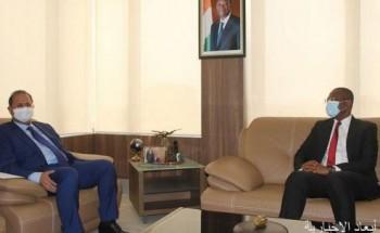 وزير الاتصال والاعلام الايفواري يلتقي سفير خادم الحرمين الشريفين