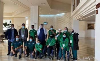 السفير الصقر يزور بعثة المنتخب السعودي لألعاب القوى في تونس