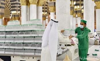 تقديم 600 ألف عبوة ماء زمزم بالمسجد النبوي خلال النصف الأول من رمضان