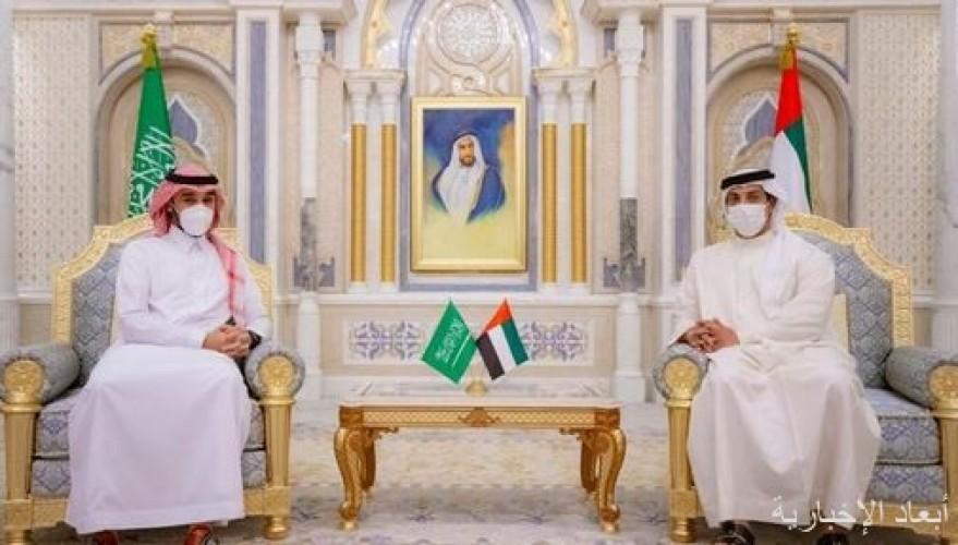 الشيخ منصور بن زايد آل نهيان يستقبل وزير الرياضة الأمير عبدالعزيز الفيصل