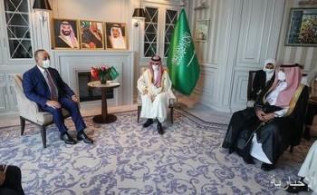 سمو الأمير فيصل بن فرحان يلتقي وزير خارجية تركيا