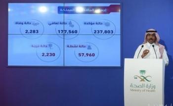 متحدث الصحة: تسجيل (7718) حالة تعافٍ جديدة، وانخفاض في الحالات المؤكدة المصابة بكورونا في المملكة