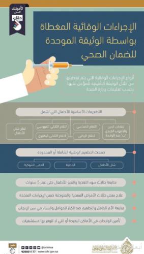 36 تطعيماً تحت مظلة التغطية التأمينية