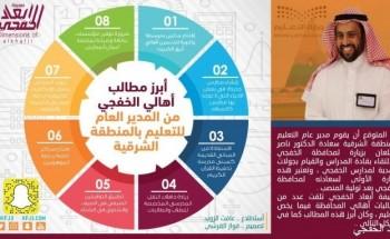 تعرف على أهم مطالبات أهالي الخفجي من مدير التعليم بالشرقية