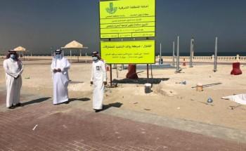رئيس بلدية الخفجي يتفقد المشاريع التنموية بالمحافظة