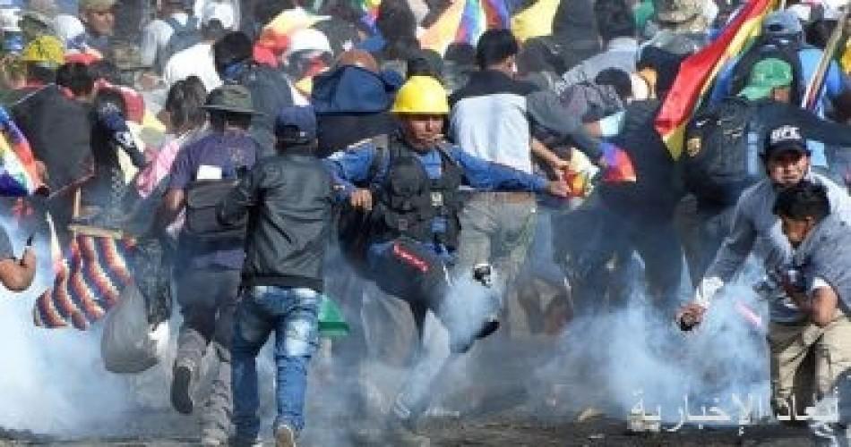 شرطة بوليفيا تشتبك مع أنصار موراليس وزيادة فى عدد القتلى