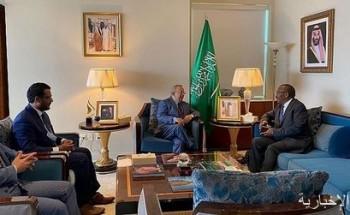 السفير المعلمي يلتقي المندوب الدائم لمملكة ليسوتو لدى الأمم المتحدة