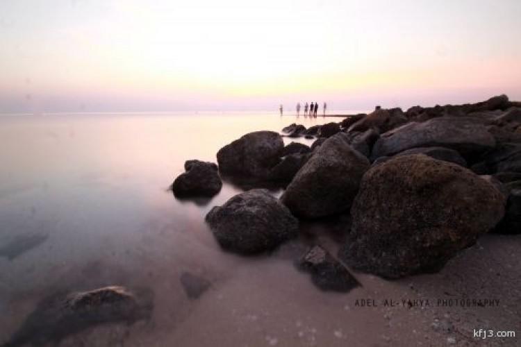 الصخور في كورنيش الخفجي
