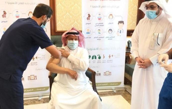 محافظ الخفجي يدشن حملة التطعيم ضد الأنفلونزا الموسمية بالمحافظة