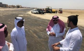 رئيس بلدية الخفجي يتفقد مشاريع السفلتة بالمحافظة والمشاريع التنموية