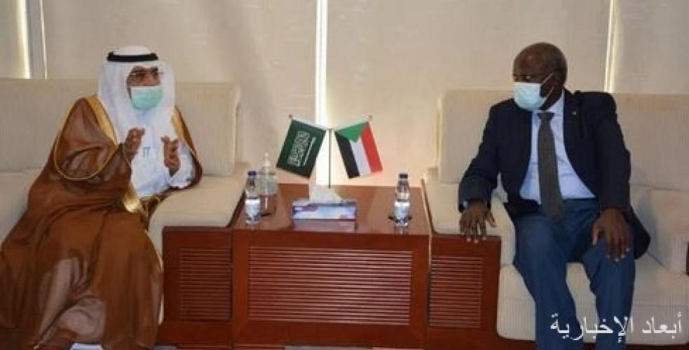 وزير الطاقة والنفط السوداني يلتقي سفير المملكة