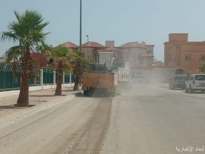 بلدية الخفجي ترفع أكثر من 9200 م3 من النفايات والأنقاض خلال شهر من الأحياء
