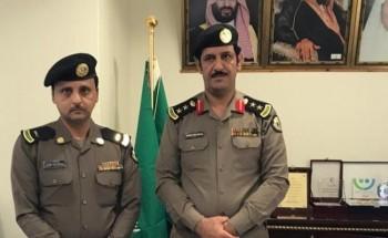 مدير شرطة الخفجي يقلد القحطاني رتبته الجديدة