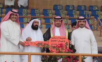 """""""المفتي"""" يظفر بسيارة أرامكو الخليج في إنطلاق مسابقات فروسية الخفجي"""
