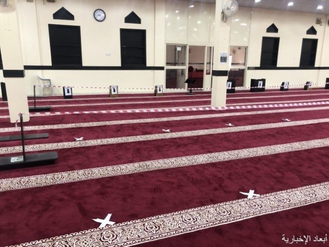 مساجد الخفجي تنهي إستعداداتها لإستقبال المصلين فجر الأحد القادم