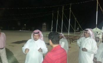 محافظ الخفجي يتفقد تجهيزات حفل عيد الفطر المبارك