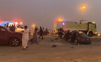 حادث شنيع يودي بحياة شاب على شارع مدخل حي السلام بالخفجي