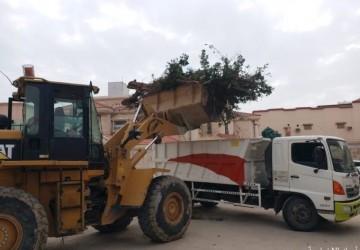 بلدية الخفجي تُعالج عناصر التشوه البصري ضمن حملات تحسين المشهد الحضري