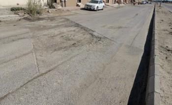 الحفريات تشوه طريق طارق بن زياد بريان الخفجي وتتلف السيارات