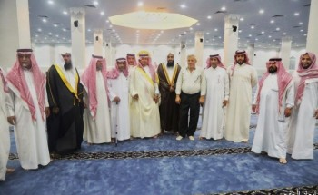 محافظ الخفجي يفتتح جامع عايد سليم بحي السلام