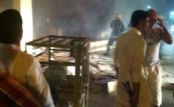 حريق في مستودع سوبرماركت أجياد