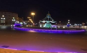 بلدية الخفجي: إضاءات «LED» تُزين الدوارات والميادين إستعداداً لعيد الفطر