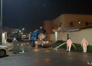 مياه الخفجي: مشكلة داخلية وقمنا بسحب المياه وتطهير الشارع