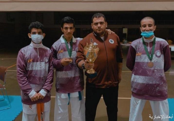 العلمين يحقق المركز الثالث في بطولة المملكة المجمعة للكارتيه بالرياض