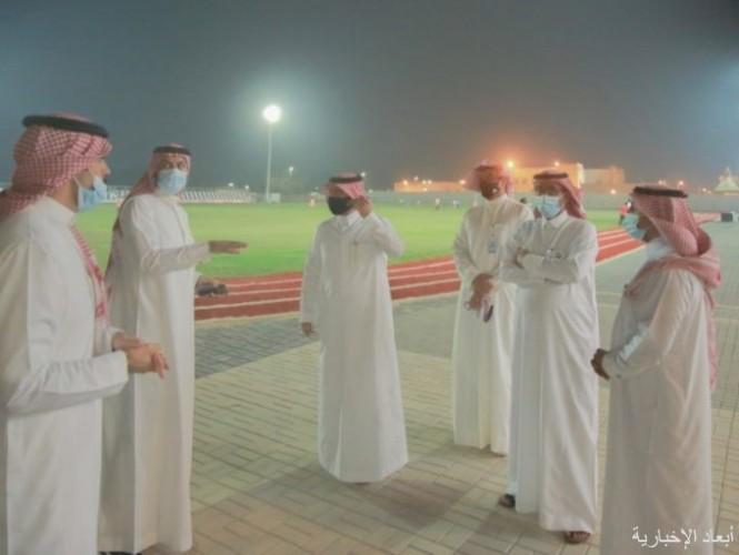 مدير مكتب الرياضة بحفر الباطن يزور نادي العلمين بالخفجي