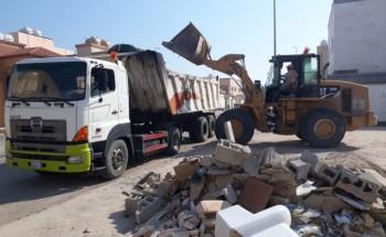بلدية الخفجي ترفع أكثر من 18 ألف م3 نفايات وأنقاض خلال ثلاثة أشهر