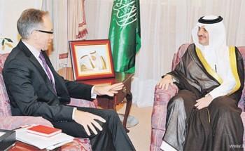 الأمير سعود بن نايف والأمير جلوي يؤديان صلاة عيد الفطر بالدمام