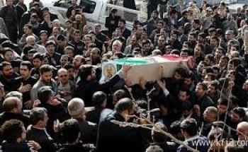تشييع رئيس الهيئة الإيرانية لإعادة الإعمار في لبنان