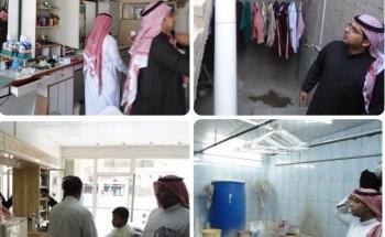 بالصور: بلدية الخفجي تغلق عشرة محلات مخالفة وتفرض غرامات بقيمة 18 ألف ريال