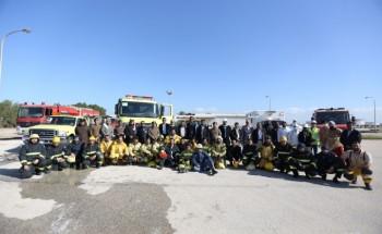 الدفاع المدني وإطفاء العمليات المشتركة ينفذان فرضية حريق
