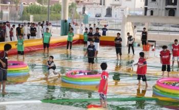يوم مائي متميز ضمن فعاليات نادي الخفجي الصيفي