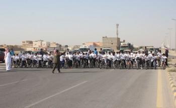 تغطية سباقات الدراجات الهوائية و اختراق الضاحية على مستوى المدارس الإبتدائية بالخفجي