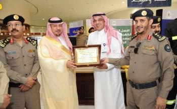 الدفاع المدني يكرم شركة أرامكو لاعمال الخليج الراعي الرسمي لفعاليات اليوم العالمي وأسواق المزرعة