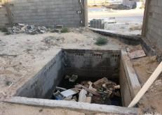 خزان مكشوف في منزل متعثر البناء يشكل خطراً على ساكني سلام الخفجي