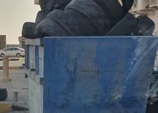 مواطن:يوثق امتلاء حاويات البناشر بالإطارات«وينبه من استغلال المفحطين لها»!