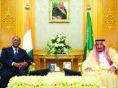 الملك يستعرض ورئيس كوت ديفوار التعاون الاقتصادي