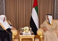 الشيخ منصور بن زايد يستقبل رئيس مجلس الشورى