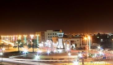ميدان الساعة في الخفجي ، تصوير – عبدالعزيز العنزي