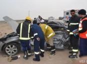 وفاة مواطن وإصابة زوجته في حادث شنيع على طريق الخفجي القديم