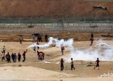 ارتفاع أعداد المصابين على حدود غزة إلى 206 فلسطينيين