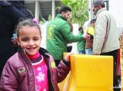 يد الخير السعودية تواصل إغاثة اليمنيين والسوريين