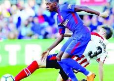 الإصابة تبعد ديمبيلي عن برشلونة