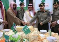 جوازات الخفجي تحتفي باليوم الوطني والهزاع يشاركهم الإحتفالية