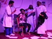 بالفيديو.. المسرحية الكوميدية «تراعيب» تجذب زوار «كلنا الخفجي» السادس
